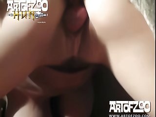Nympho Stunning Jade Reign Gets A Messy Animal Porn